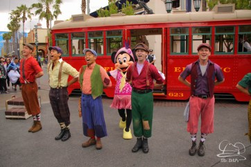 Minnie Mouse Joins Mickey Mouse in Red Car Trolley News Boys-7