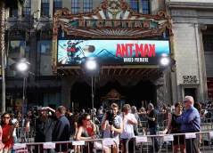 "LOS ANGELES, CA - JUNE 29: A view of the atmosphere at the world premiere of Marvel's ""Ant-Man"" at The Dolby Theatre on June 29, 2015 in Los Angeles, California. (Photo by Jesse Grant/Getty Images for Disney)"