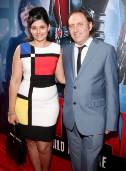 "LOS ANGELES, CA - JUNE 29: Actor Gregg Turkington (R) and guest attend the world premiere of Marvel's ""Ant-Man"" at The Dolby Theatre on June 29, 2015 in Los Angeles, California. (Photo by Jesse Grant/Getty Images for Disney) *** Local Caption *** Gregg Turkington"