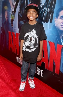 "LOS ANGELES, CA - JUNE 29: Actor Miles Brown attends the world premiere of Marvel's ""Ant-Man"" at The Dolby Theatre on June 29, 2015 in Los Angeles, California. (Photo by Jesse Grant/Getty Images for Disney) *** Local Caption *** Miles Brown"