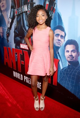 """LOS ANGELES, CA - JUNE 29: Actress Skai Jackson attends the world premiere of Marvel's """"Ant-Man"""" at The Dolby Theatre on June 29, 2015 in Los Angeles, California. (Photo by Jesse Grant/Getty Images for Disney) *** Local Caption *** Skai Jackson"""