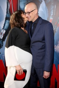 """LOS ANGELES, CA - JUNE 29: Actress Evangeline Lilly (L) and director Peyton Reed attend the world premiere of Marvel's """"Ant-Man"""" at The Dolby Theatre on June 29, 2015 in Los Angeles, California. (Photo by Jesse Grant/Getty Images for Disney) *** Local Caption *** Evangeline Lilly;Peyton Reed"""