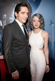 """LOS ANGELES, CA - JUNE 29: Actor David Dastmalchian (L) and Eve Dastmalchian attend the world premiere of Marvel's """"Ant-Man"""" at The Dolby Theatre on June 29, 2015 in Los Angeles, California. (Photo by Jesse Grant/Getty Images for Disney) *** Local Caption *** David Dastmalchian;Eve Dastmalchian"""