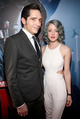 "LOS ANGELES, CA - JUNE 29: Actor David Dastmalchian (L) and Eve Dastmalchian attend the world premiere of Marvel's ""Ant-Man"" at The Dolby Theatre on June 29, 2015 in Los Angeles, California. (Photo by Jesse Grant/Getty Images for Disney) *** Local Caption *** David Dastmalchian;Eve Dastmalchian"