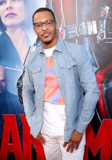 """LOS ANGELES, CA - JUNE 29: Actor/rapper Tip """"T.I."""" Harris attends the world premiere of Marvel's """"Ant-Man"""" at The Dolby Theatre on June 29, 2015 in Los Angeles, California. (Photo by Jesse Grant/Getty Images for Disney) *** Local Caption *** Tip Harris;T.I."""