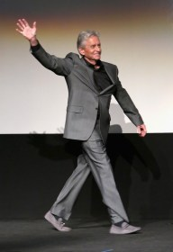 """LOS ANGELES, CA - JUNE 29: Actor Michael Douglas onstage during the world premiere of Marvel's """"Ant-Man"""" at The Dolby Theatre on June 29, 2015 in Los Angeles, California. (Photo by Jesse Grant/Getty Images for Disney) *** Local Caption *** Michael Douglas"""