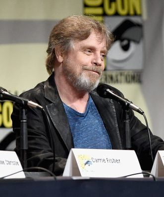 SAN DIEGO, CA - JULY 10: Actor Mark Hamill at the Hall H Panel for `Star Wars: The Force Awakens` during Comic-Con International 2015 at the San Diego Convention Center on July 10, 2015 in San Diego, California. (Photo by Michael Buckner/Getty Images for Disney) *** Local Caption *** Mark Hamill