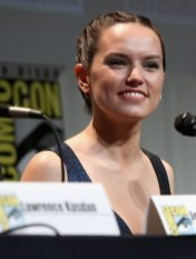 SAN DIEGO, CA - JULY 10: Actress Daisy Ridley at the Hall H Panel for `Star Wars: The Force Awakens` during Comic-Con International 2015 at the San Diego Convention Center on July 10, 2015 in San Diego, California. (Photo by Jesse Grant/Getty Images for Disney) *** Local Caption *** Daisy Ridley