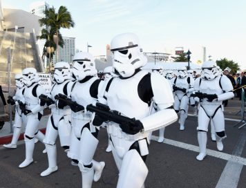 SAN DIEGO, CA - JULY 10: Following the `Star Wars` Hall H presentation at Comic-Con International 2015 at the San Diego Convention Center in San Diego, Calif., the audience of more than 6000 fans walked to a surprise `Star Wars` Fan Concert performed by the San Diego Symphony, featuring the classic `Star Wars` music of composer John Williams, at the Embarcadero Marina Park South on July 10, 2015 in San Diego, California. (Photo by Michael Buckner/Getty Images for Disney)