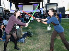 """SAN DIEGO, CA - JULY 10: Following the `Star Wars` Hall H presentation at Comic-Con International 2015 at the San Diego Convention Center in San Diego, Calif., the audience of more than 6000 fans enjoyed a surprise """"Star Wars"""" Fan Concert performed by the San Diego Symphony, featuring the classic `Star Wars` music of composer John Williams, at the Embarcadero Marina Park South on July 10, 2015 in San Diego, California. (Photo by Michael Buckner/Getty Images for Disney)"""