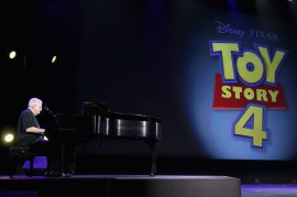 """ANAHEIM, CA - AUGUST 14: Composer Randy Newman of TOY STORY 1, 2 and 3 took part today in """"Pixar and Walt Disney Animation Studios: The Upcoming Films"""" presentation at Disney's D23 EXPO 2015 in Anaheim, Calif. (Photo by Jesse Grant/Getty Images for Disney) *** Local Caption *** Randy Newman"""