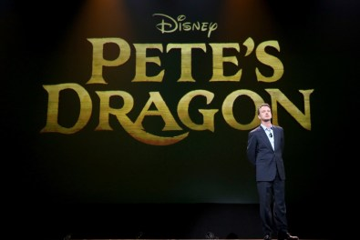 """ANAHEIM, CA - AUGUST 15: President of Walt Disney Studios Motion Picture Production Sean Bailey took part today in """"Worlds, Galaxies, and Universes: Live Action at The Walt Disney Studios"""" presentation at Disney's D23 EXPO 2015 in Anaheim, Calif. PETE?S DRAGON will be released in U.S. theaters on August 12, 2016. (Photo by Jesse Grant/Getty Images for Disney) *** Local Caption *** Sean Bailey"""