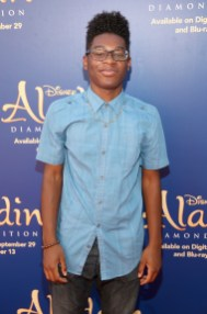 """BURBANK, CA - SEPTEMBER 27: Actor Kamil McFadden attends a special LA screening celebrating Diamond Edition release of """"ALADDIN"""" at The Walt Disney Studios on September 27, 2015 in Burbank, California. (Photo by Jesse Grant/Getty Images for Disney) *** Local Caption *** Kamil McFadden"""
