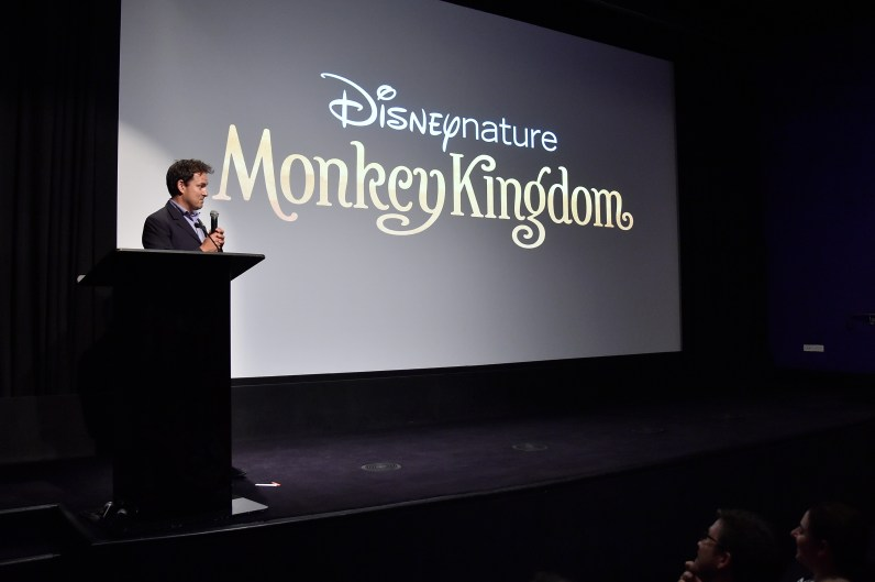 NEW YORK, NY - SEPTEMBER 02: Director Mark Linfield speaks on stage at Disneynature's Monkey Kingdom special screening celebrating the film's September15th Blu-ray / Digital HD release on September 2, 2015 in New York City. (Photo by Mike Coppola/Getty Images for Disneynature)