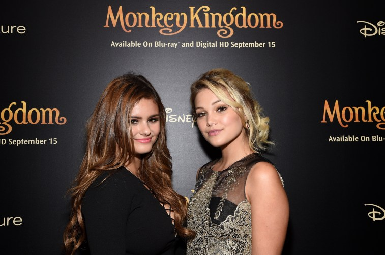 NEW YORK, NY - SEPTEMBER 02: Singers Jacquie Lee.and Olivia Holt attend Disneynature's Monkey Kingdom special screening celebrating the film's September15th Blu-ray / Digital HD release on September 2, 2015 in New York City. (Photo by Mike Coppola/Getty Images for Disneynature)