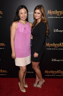 NEW YORK, NY - SEPTEMBER 02: Jewelry designer Alex Woo and singer Jacquie Lee attend Disneynature's Monkey Kingdom special screening celebrating the film's September15th Blu-ray / Digital HD release on September 2, 2015 in New York City. (Photo by Mike Coppola/Getty Images for Disneynature)