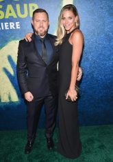 HOLLYWOOD, CA - NOVEMBER 17: Actor A.J. Buckley (L) and Abigail Ochse attend the World Premiere Of Disney-Pixar's THE GOOD DINOSAUR at the El Capitan Theatre on November 17, 2015 in Hollywood, California. (Photo by Alberto E. Rodriguez/Getty Images for Disney) *** Local Caption *** A.J. Buckley; Abigail Ochse