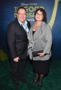 HOLLYWOOD, CA - NOVEMBER 17: Executive producer John Lasseter and Nancy Lasseter attend the World Premiere Of Disney-Pixar's THE GOOD DINOSAUR at the El Capitan Theatre on November 17, 2015 in Hollywood, California. (Photo by Alberto E. Rodriguez/Getty Images for Disney) *** Local Caption *** John Lasseter; Nancy Lasseter