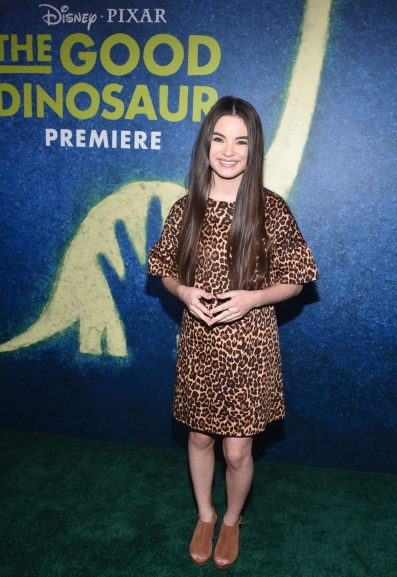 HOLLYWOOD, CA - NOVEMBER 17: Actress Landry Bender attends the World Premiere Of Disney-Pixar's THE GOOD DINOSAUR at the El Capitan Theatre on November 17, 2015 in Hollywood, California. (Photo by Alberto E. Rodriguez/Getty Images for Disney) *** Local Caption *** Landry Bender