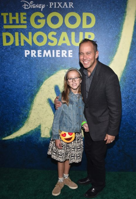 HOLLYWOOD, CA - NOVEMBER 17: Producer Jonas Rivera (R) attends the World Premiere Of Disney-Pixar's THE GOOD DINOSAUR at the El Capitan Theatre on November 17, 2015 in Hollywood, California. (Photo by Alberto E. Rodriguez/Getty Images for Disney) *** Local Caption *** Jonas Rivera
