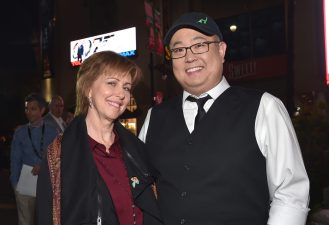"HOLLYWOOD, CA - NOVEMBER 17: ""Sanjay's Super Team"" producer Nicole Paradis Grindle (L) and ""The Good Dinosaur"" director Peter Sohn attend the World Premiere Of Disney-Pixar's THE GOOD DINOSAUR at the El Capitan Theatre on November 17, 2015 in Hollywood, California. (Photo by Alberto E. Rodriguez/Getty Images for Disney) *** Local Caption *** Peter Sohn; Nicole Paradis Grindle"