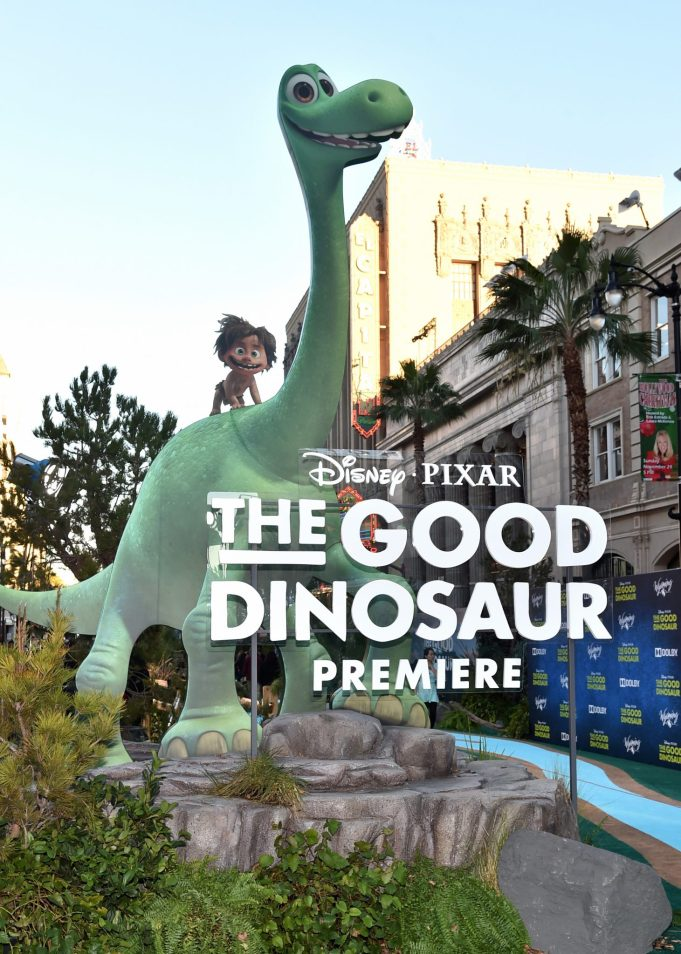 HOLLYWOOD, CA - NOVEMBER 17: A view of the atmosphere at the World Premiere Of Disney-Pixar's THE GOOD DINOSAUR at the El Capitan Theatre on November 17, 2015 in Hollywood, California. (Photo by Alberto E. Rodriguez/Getty Images for Disney)