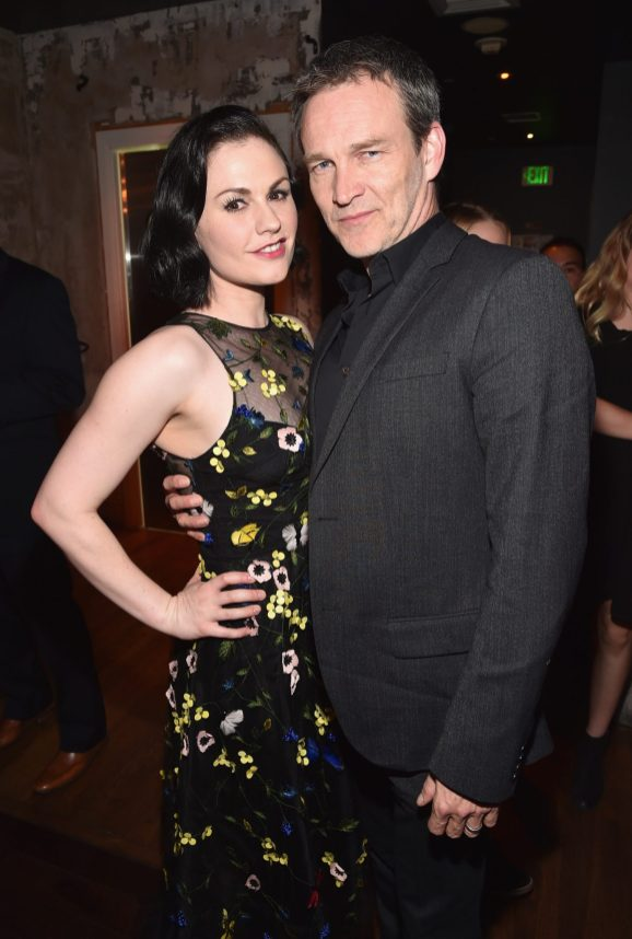 HOLLYWOOD, CA - NOVEMBER 17: Actors Anna Paquin (L) and Stephen Moyer attend the World Premiere Of Disney-Pixar's THE GOOD DINOSAUR at the El Capitan Theatre on November 17, 2015 in Hollywood, California. (Photo by Alberto E. Rodriguez/Getty Images for Disney) *** Local Caption *** Anna Paquin; Stephen Moyer