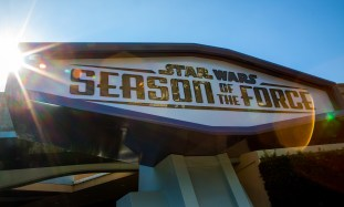 STAR WARS SEASON OF THE FORCE AT DISNEYLAND PARK -- As the Force awakens at the Disneyland Resort, Star Wars Season of the Force brings exciting new experiences to Disneyland Park to celebrate all things Star Wars. Season of the Force in Tomorrowland entertains fans of the famous film saga and guests looking forward to the future Star Wars-themed land. Among the elements entering this galaxy are Star Wars Launch Bay, an interactive space in the newly named Tomorrowland Expo Center; Star Wars: Path of the Jedi, a cinematic overview of the Star Wars saga; a new adventure in Star Tours – The Adventures Continue, and the reimagined attraction, Hyperspace Mountain. Opening Dec. 8, Jedi Training: Trials of the Temple enhances this popular show with new characters and a new villain. (Paul Hiffmeyer/Disneyland)