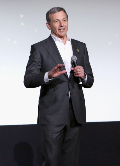 HOLLYWOOD, CA - DECEMBER 14: Chairman and CEO, The Walt Disney Company, Bob Iger speaks onstage during the World Premiere of ?Star Wars: The Force Awakens? at the Dolby, El Capitan, and TCL Theatres on December 14, 2015 in Hollywood, California. (Photo by Jesse Grant/Getty Images for Disney) *** Local Caption *** Bob Iger