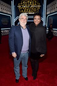 HOLLYWOOD, CA - DECEMBER 14: Director George Lucas (L) and chairman of the Board of Directors of Dreamworks Animation Mellody Hobson attend the World Premiere of ?Star Wars: The Force Awakens? at the Dolby, El Capitan, and TCL Theatres on December 14, 2015 in Hollywood, California. (Photo by Alberto E. Rodriguez/Getty Images for Disney) *** Local Caption *** Mellody Hobson;George Lucas