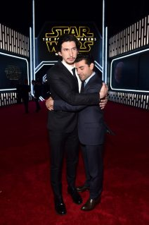 HOLLYWOOD, CA - DECEMBER 14: Actors Adam Driver (L) and Oscar Isaac attend the World Premiere of ?Star Wars: The Force Awakens? at the Dolby, El Capitan, and TCL Theatres on December 14, 2015 in Hollywood, California. (Photo by Alberto E. Rodriguez/Getty Images for Disney) *** Local Caption *** Adam Driver;Oscar Isaac