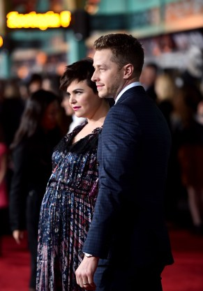 """HOLLYWOOD, CA - FEBRUARY 17: Actors Ginnifer Goodwin (L) and Josh Dallas attend the Los Angeles premiere of Walt Disney Animation Studios' """"Zootopia"""" on February 17, 2016 in Hollywood, California. (Photo by Alberto E. Rodriguez/Getty Images for Disney) *** Local Caption *** Ginnifer Goodwin; Josh Dallas"""