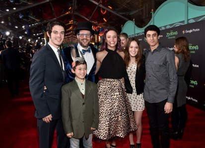 "HOLLYWOOD, CA - FEBRUARY 17: Composer Michael Giacchino and family attend the Los Angeles premiere of Walt Disney Animation Studios' ""Zootopia"" on February 17, 2016 in Hollywood, California. (Photo by Alberto E. Rodriguez/Getty Images for Disney) *** Local Caption *** Michael Giacchino"