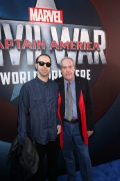 """HOLLYWOOD, CALIFORNIA - APRIL 12: Actor Powers Boothe (R) and son Preston Allen attend The World Premiere of Marvel's """"Captain America: Civil War"""" at Dolby Theatre on April 12, 2016 in Los Angeles, California. (Photo by Jesse Grant/Getty Images for Disney) *** Local Caption *** Preston Allen; Powers Boothe"""