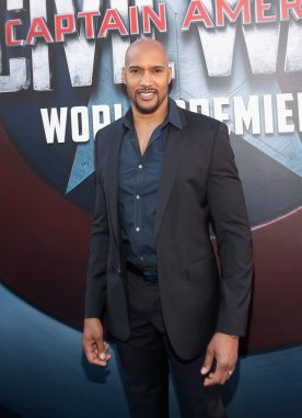 "HOLLYWOOD, CALIFORNIA - APRIL 12: Actor Henry Simmons attends The World Premiere of Marvel's ""Captain America: Civil War"" at Dolby Theatre on April 12, 2016 in Los Angeles, California. (Photo by Jesse Grant/Getty Images for Disney) *** Local Caption *** Henry Simmons"