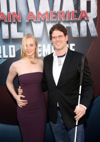 "HOLLYWOOD, CALIFORNIA - APRIL 12: Actress Deborah Ann Woll (L) and E.J. Scott attend The World Premiere of Marvel's ""Captain America: Civil War"" at Dolby Theatre on April 12, 2016 in Los Angeles, California. (Photo by Jesse Grant/Getty Images for Disney) *** Local Caption *** Deborah Ann Woll; E.J. Scott"