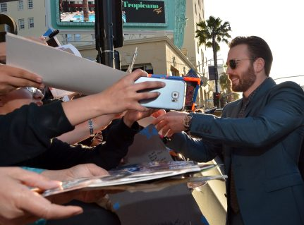 """HOLLYWOOD, CALIFORNIA - APRIL 12: Actor Chris Evans attends The World Premiere of Marvel's """"Captain America: Civil War"""" at Dolby Theatre on April 12, 2016 in Los Angeles, California. (Photo by Charley Gallay/Getty Images for Disney) *** Local Caption *** Chris Evans"""