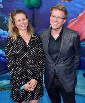 HOLLYWOOD, CA - JUNE 08: Screenwriter Victoria Strouse (L) and Director/screenwriter Andrew Stanton attend The World Premiere of Disney-Pixar's FINDING DORY on Wednesday, June 8, 2016 in Hollywood, California. (Photo by Alberto E. Rodriguez/Getty Images for Disney) *** Local Caption *** Victoria Strouse; Andrew Stanton