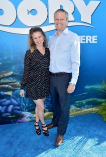 HOLLYWOOD, CA - JUNE 08: Screenwriter Victoria Strouse (L) and guest attend The World Premiere of Disney-Pixar's FINDING DORY on Wednesday, June 8, 2016 in Hollywood, California. (Photo by Alberto E. Rodriguez/Getty Images for Disney) *** Local Caption *** Victoria Strouse