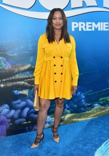 HOLLYWOOD, CA - JUNE 08: Actress Garcelle Beauvais attends The World Premiere of Disney-Pixar's FINDING DORY on Wednesday, June 8, 2016 in Hollywood, California. (Photo by Alberto E. Rodriguez/Getty Images for Disney) *** Local Caption *** Garcelle Beauvais