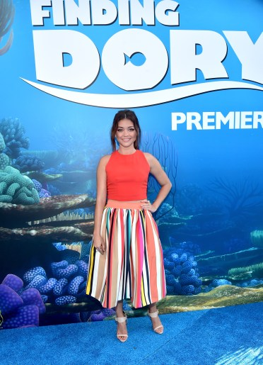 HOLLYWOOD, CA - JUNE 08: Actress Sarah Hyland attends The World Premiere of Disney-Pixar's FINDING DORY on Wednesday, June 8, 2016 in Hollywood, California. (Photo by Alberto E. Rodriguez/Getty Images for Disney) *** Local Caption *** Sarah Hyland