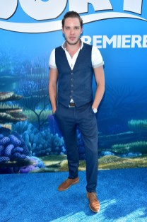 HOLLYWOOD, CA - JUNE 08: Actor Dominic Sherwood attends The World Premiere of Disney-Pixar's FINDING DORY on Wednesday, June 8, 2016 in Hollywood, California. (Photo by Alberto E. Rodriguez/Getty Images for Disney) *** Local Caption *** Dominic Sherwood