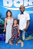 """HOLLYWOOD, CA - JUNE 08: Tv personality/professional dancer Allison Holker, guest and Professional dancer Stephen """"tWitch"""" Boss attend The World Premiere of Disney-Pixar's FINDING DORY on Wednesday, June 8, 2016 in Hollywood, California. (Photo by Alberto E. Rodriguez/Getty Images for Disney) *** Local Caption *** Allison Holker; Stephen Boss"""