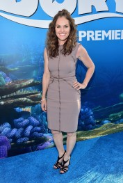 HOLLYWOOD, CA - JUNE 08: Actress Amy Brenneman attends The World Premiere of Disney-Pixar's FINDING DORY on Wednesday, June 8, 2016 in Hollywood, California. (Photo by Alberto E. Rodriguez/Getty Images for Disney) *** Local Caption *** Amy Brenneman