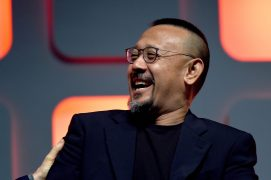 LONDON, ENGLAND - JULY 15: Wen Jiang on stage during the Rogue One Panel at the Star Wars Celebration 2016 at ExCel on July 15, 2016 in London, England. (Photo by Ben A. Pruchnie/Getty Images for Walt Disney Studios) *** Local Caption *** Wen Jiang