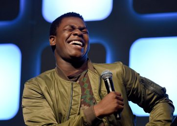 LONDON, ENGLAND - JULY 17: John Boyega on stage during Future Directors Panel at the Star Wars Celebration 2016 at ExCel on July 17, 2016 in London, England. (Photo by Ben A. Pruchnie/Getty Images for Walt Disney Studios) *** Local Caption *** John Boyega