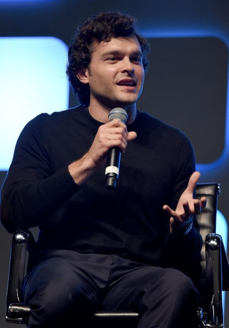LONDON, ENGLAND - JULY 17: Alden Ehrenreich, who will play Han Solo, on stage during Future Directors Panel at the Star Wars Celebration 2016 at ExCel on July 17, 2016 in London, England. (Photo by Ben A. Pruchnie/Getty Images for Walt Disney Studios) *** Local Caption *** Alden Ehrenreich