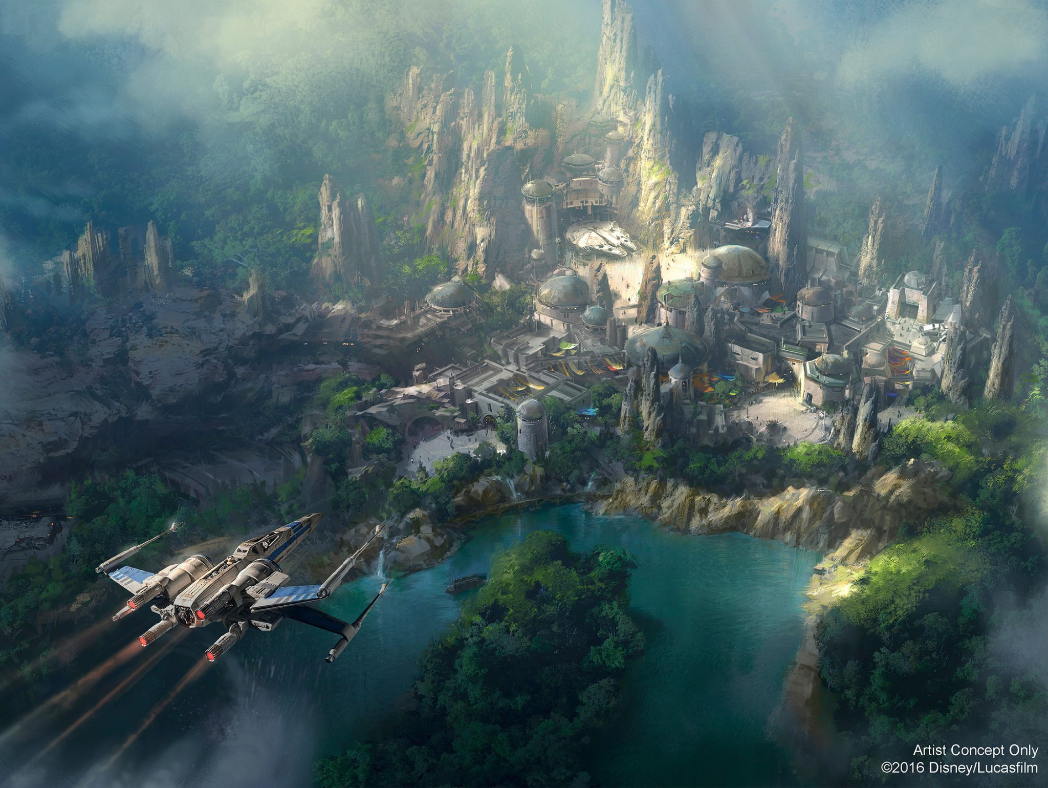 Star Wars Themed Land Disneyland Concept Art