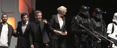 Gwendoline Christie and cast of Rogue One