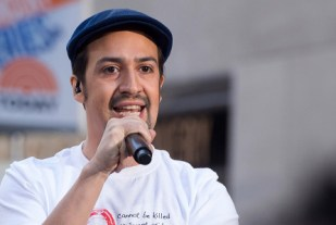 """Lin-Manuel Miranda performs on NBC's """"Today"""" show at Rockefeller Plaza on Monday, July 11, 2016, in New York. (Photo by Charles Sykes/Invision/AP)"""